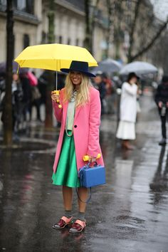 Well, that's one way to brighten up a rainy day!  from Paris Fashion Week »