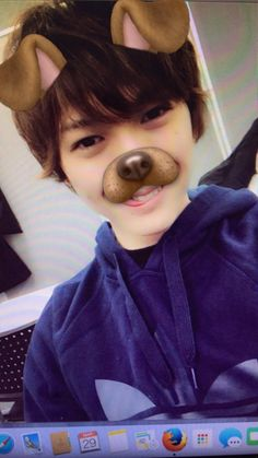 I mean, is this not Oikawa? You know he'd use the dog filter for everything. Iwaoi, Oikawa, Haikyuu Live Action, Stage Play, Art Base, Cosplay, Cute Actors, Japanese Men, Having A Bad Day