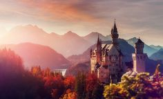 Your favorite fairy tales have been told and retold countless times — and sometimes re-imagined in incredible ways. Psychedelic Drawings, Writing Fantasy, Local Hotels, Revival Architecture, Neuschwanstein Castle, Fantasy Romance, Fairytale Art, Retelling, Germany Travel