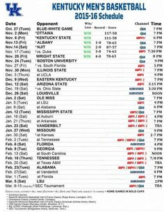 photo relating to Kentucky Basketball Schedule Printable identified as Berita Hari Ini: kentucky wildcats basketball plan 2017-18