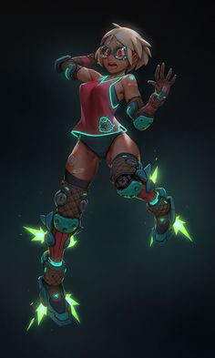 Cyber Candy - Rocket boots training session, Gui Guimaraes #drawing #art #character #design
