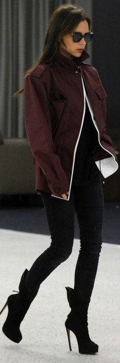 Victoria Beckham: Sunglasses – Victoria Beckham Collection  Jeans – R13  Shoes – Alaia