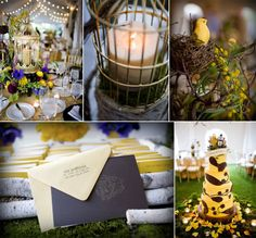LOVE BIRD WEDDING - This goes great with a rustic theme and the rustic venue of Prairie View Golf Club with our exposed beams and natural stone fireplace.