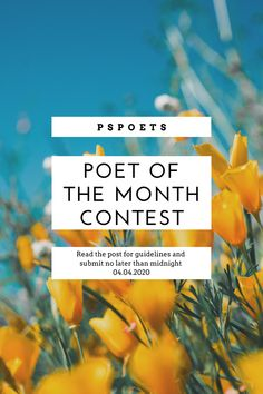 Hey there everyone!  Since we're all locked up inside, it's the perfect time to announce our next POM contest! We haven't done one in a while, but we're excited to get back into the flow for Poetry Month!  Head over to our Instagram account and follow the guidelines in the POM post.  We will select 2 runner-ups and one winner to be featured on the site! Submit your poems no later than 11:59 pm on April 4th!