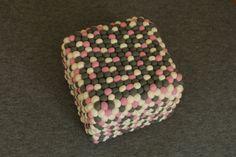 coubic pouf PinkPong by feltstoriesEU on Etsy
