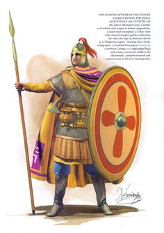 Low ranking officer of the Danube Legions during the Reign of Emperor Justinian.(6th century AD)