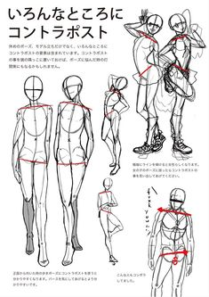 "Japanese tutorial on drawing poses in motion (p. 2) - ""Where is contrapposto (counterpose) used?"""
