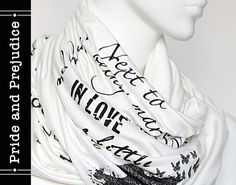 Pride and Prejudice book on the scarf