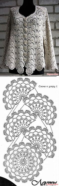 "diy_crafts-Camino o terminacion ""flower crochet scarf in one go! no need to attach the motifs to one another! flower crochet scarf in one go! Bonnet Crochet, Crochet Lace Edging, Crochet Motifs, Crochet Borders, Crochet Diagram, Crochet Chart, Thread Crochet, Love Crochet, Crochet Scarves"
