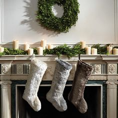 Fresh garland and wreaths are the perfect holiday decor!