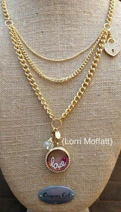 LOVE LOVE LOVE the new gold layered mulit-chain from origami owl. Www.AnnetteWells.origamiowl.com to custom design your locket