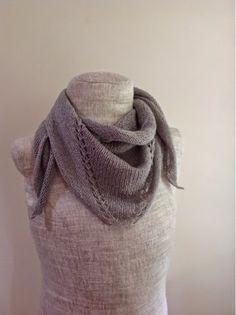 Undeniable Glitter: Silver Semi-Circular Shawl #knit