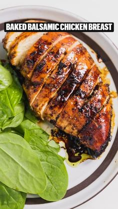 Baked Balsamic Chicken Breast Recipe, Chicken Marinade Recipes, Chicken Breast Recipes Healthy, Yummy Chicken Recipes, Baked Chicken Breast, Yum Yum Chicken, Healthy Recipes, Healthy Food, Chicken Breasts