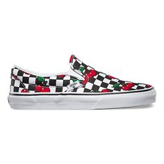 Cherry Checkers Slip-On