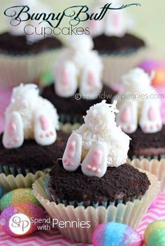 bunny cupcakes for easter/spring