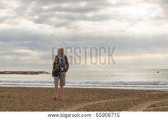Woman On A Deserted Beach