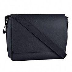 c7ad8c66e87 Louis Vuitton Roman MM Taiga Leather Black  Louisvuittonhandbags
