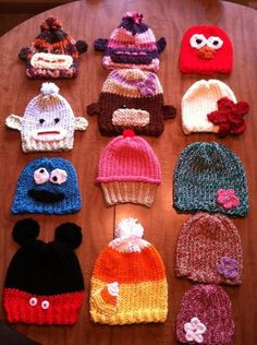 Knitting Patterns For Childrens Characters : Hats I love on Pinterest Knit Hats, Knitted Hats and Hats
