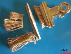 how to make a miniature bristle scrub brush for my dollhouse laundry or workshop - illustrated steps