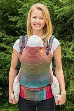 Stewed Rhubarb River Valley Terra Cotta Weft 1 TULA BABY CARRIER