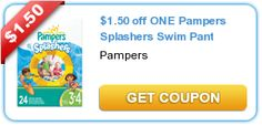 Save on Pampers Diapers, Extra Protection Diapers, Wipes, UnderJams & Splashers HERE!