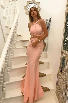 Prom Dresses Boho, Two Piece Cross Neck Floor-Length Peach Prom Dress with Keyhole Shop prom dresses Boho,such as beading prom pieces prom dresses,chiffon prom dress,lace prom dresses Blush Pink Prom Dresses, Elegant Bridesmaid Dresses, Tulle Prom Dress, Mermaid Prom Dresses, Prom Dresses Two Piece, Dress Long, Pageant Dresses For Teens, Cheap Prom Dresses, Homecoming Dresses