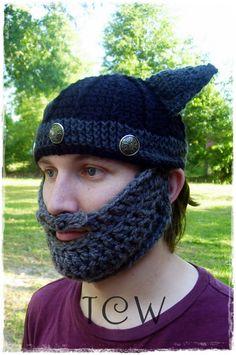 Free Crochet Pattern: Beard Hat -- @Kristie Davis I could see @Kendall Finlayson Davis wearing something like this lol