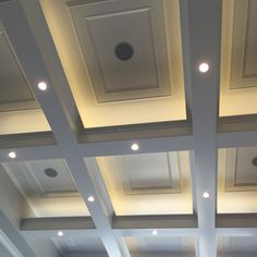 """14 Likes, 2 Comments - Design Hintz Interior Design (@designhintz) on Instagram: """"Loved seeing this variation of a coffered ceiling in home #24 by @highlandcustomhomes The lighting…"""""""
