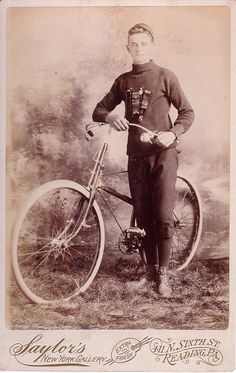 Early 1900's Handsome bicycle man