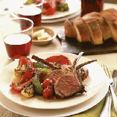 Lamb Chops Marinated in Red Wine