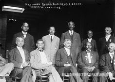 Taking Care of Business | 1910 by Black History Album, via Flickr....National Negro Business League 1910...Booker T Washington Front Row 2nd Left