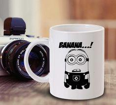 Coffee Mug  Tea Mug Minion Banana Mugs by teakopi on Etsy