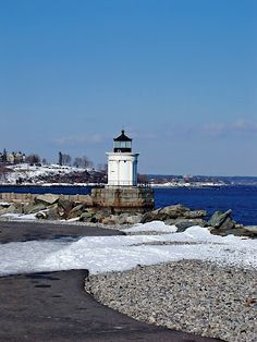 Bug Light in the winter! #snow #winter #visitportland