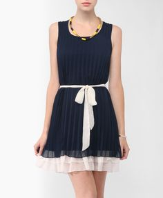 Colorblocked Pleated Dress | FOREVER21