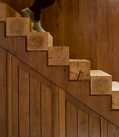 All wood stairs