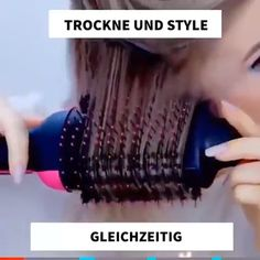 😍This is the best hair dryer currently on the market! - Hair dryer and voluminous styler in one 💋Get yours today ➡️ - Makeup Videos, Hair Videos, Diy Makeup, Makeup Tips, Best Hair Dryer, Rides Front, Pelo Bob, Wet Hair, Balayage Hair