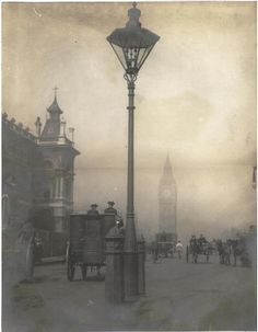 Smog of London hiding Big Ben!  - Taken by Linley Sambourne, 1905