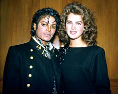 """Brooke Shields and Michael Jackson In 1984, the actress was the late singer's date to the Grammy Awards. He wrote about their romantic involvement in his 1988 autobiography, but Shields claimed they were just friends. """"We grew up together,"""" she told the AP. """"He trusts me."""""""