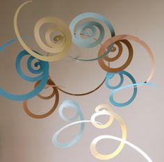 Art Mobile  Long spirals mobile in beach colors  by avisandiris, $25.00
