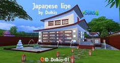 Ihelen Sims: Japanese line by Dolkin • Sims 4 Downloads