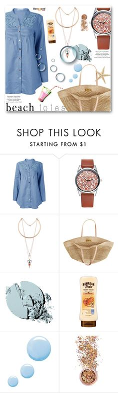 """In the Bag: Beach Totes"" by angelstar92 ❤ liked on Polyvore featuring Flora Bella, Stila, Topshop and In Your Dreams"