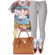 Adidas x Adidas by livelifefreelyy on Polyvore featuring polyvore, fashion, style, adidas, Forever 21, adidas Originals, Michael Kors, Movado and Giani Bernini
