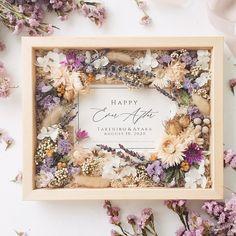 Flower Box Gift, Flower Boxes, Flower Frame, Flower Crafts, Diy Flowers, Flower Decorations, Diy Resin Art, Dried Flower Arrangements, Floral Letters