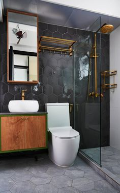 Modern home design Contemporary Interior Design, Contemporary Bathrooms, Bathroom Interior Design, Modern Bathroom, Small Bathroom, Master Bathroom, Contemporary Style, Bathroom Ideas, Contemporary Toilets