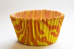 Zebra Cupcake Cases Orange Medium 1000pcs