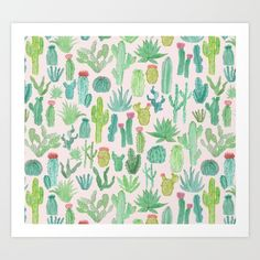 Buy Cactus Art Print by Abby Galloway. Worldwide shipping available at Society6.com. Just one of millions of high quality products available.