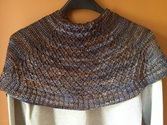 Ravelry: Serenity Shawl pattern by Char Kohl 4 ply Serenity is a small crescent shaped shawl, suitable for both men and women. Double wrapped smocking adorns the center panel and simple garter stitch side panels with a ribbed border makes Serenity totally reversible. you're thinking…smocking can be cumbersome and slow,! I have come up with a easier method by using yarn overs. Once you get the hang of it, this little shawl will fly off of your needles!