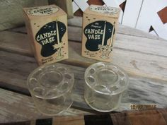Vintage 1950's the Original Candle Vase With Arrange O Disc Made in Detroit Michigan Original Boxes Lot of 2 by EvenTheKitchenSinkOH on Etsy