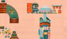 Illustrations by Lotta Nieminen Lotta Nieminen, Helsinki, Taj Mahal, Kids Rugs, Shapes, Illustrations, Inspiration, Type, Design