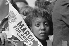 young demonstrator at the March on Washington for Jobs and Freedom, August 28, 1963